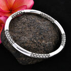 Royal Bali Collection - Sterling Silver Bangle (Size 8), Silver wt 23.95 Gms