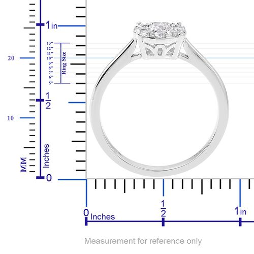 ILIANA 18K White Gold (Rnd 0.50 Ct) Diamond SI G-H Ring 0.50 Ct.