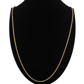 Italian Made 9K Yellow Gold Rope Necklace (Size 36), Gold wt 4.65 Gms