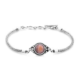 Royal Bali Collection - Lace Agate Tulang Naga Bracelet (Size 8 with Extender) in Sterling Silver 3.