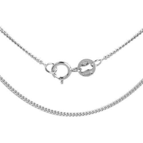 RHAPSODY 950 Platinum Diamond Cut Curb Chain (Size 18)