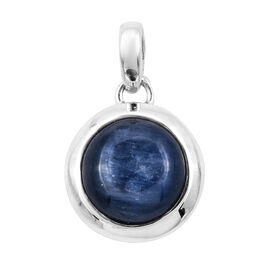 Bali Legacy Collection Kashmir Blue Kyanite (Rnd 11 mm) Pendant in Sterling Silver 4.300 Ct.