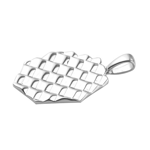 Platinum Overlay Sterling Silver Pendant, Silver wt 7.00 Gms