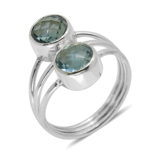 Royal Bali Collection Blue Topaz (Rnd) Ring in Sterling Silver 4.650 Ct.
