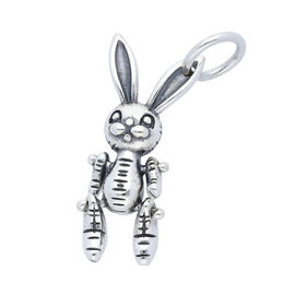 Sterling Silver Dainty Bunny Rabbit Charm