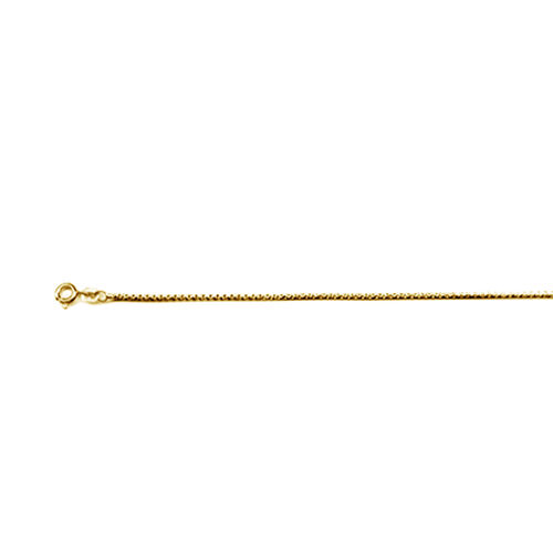 Italian Made 14K Gold Overlay Sterling Silver Chain (Size 22), Silver wt 5.06 Gms.