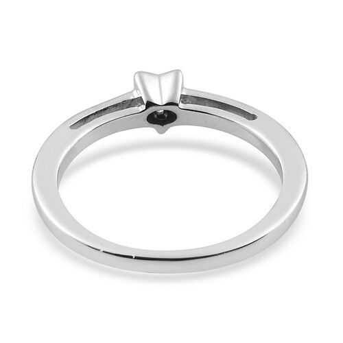 MP Diamond Star stackable Platinum Overlay Sterling Silver