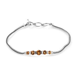 Citrine Bracelet (Size 8 with Extender) in Sterling Silver 2.25 Ct, Silver wt 7.00 Gms