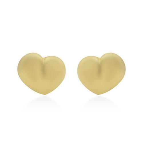Heart Stud Earrings in 9K Gold
