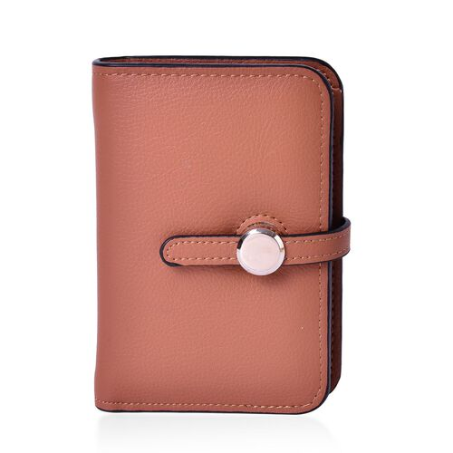 Set of 2 - Boston Italian Tan Large Wallet (Size 13.5x9 Cm) and Small Wallet (Size 11x7.5 Cm)