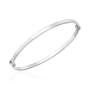 One Time Deal- 9K White Gold Bangle (Size 7), Gold wt. 3.20 Gms