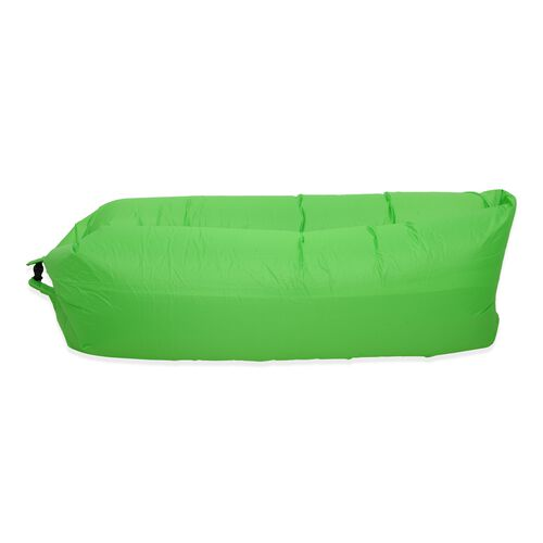 Self Inflating Air Lounger with Carry Pouch (Size 230x70 Cm) - Green