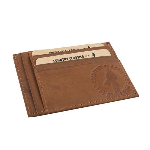 MCS Country Classics 100% Genuine Leather Wallet (10x8cm) - Cognac Colour