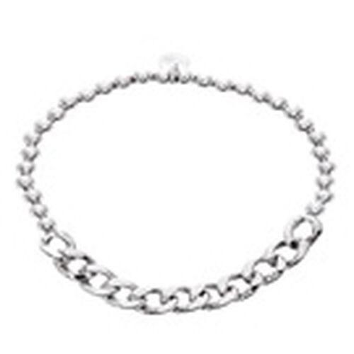 JCK Vegas Collection Sterling Silver Stretchable Curb Bracelet (Size 7), Silver wt 4.90 Gms.