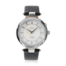 Kyboe Lago Genuine Leather Strap Watch in Black Colour