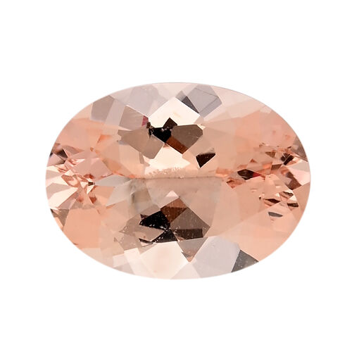 AAAA IGI Certified Morganite Faceted Oval 16.02x11.99MM (Depth - 7.47mm) 7.99 Cts  (GT13465109)