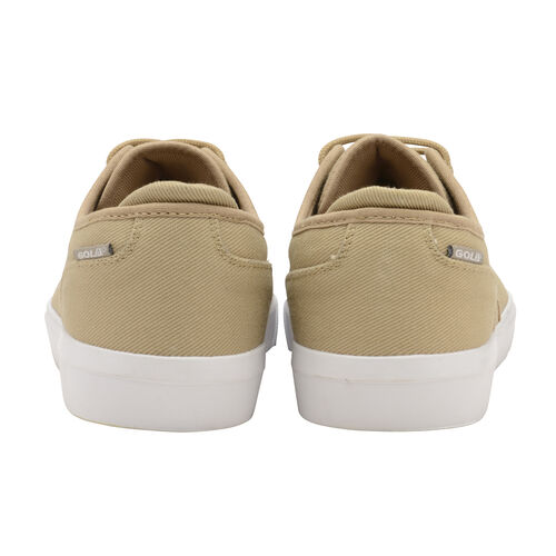 Gola Panama Lace Wide Fit Trainer (Size 7) - Taupe and White