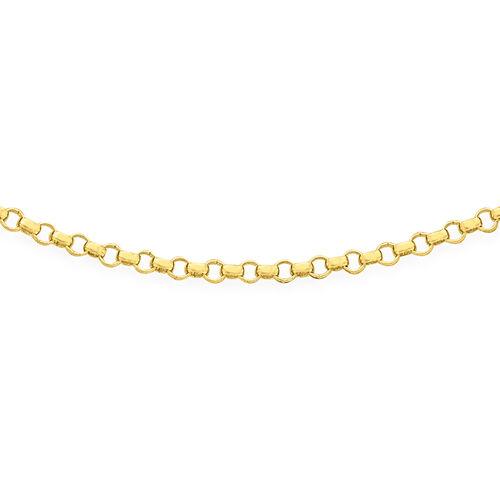 ILIANA 18K Yellow Gold Round Belcher Chain (Size 18), Gold wt 2.00 Gms