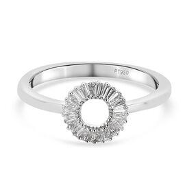 RHAPSODY 950 Platinum IGL Certified Diamond (E-F/ VS) Ring 0.25 Ct.