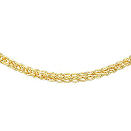 9K Yellow Gold Adjustable Sliding Spiga Chain (Size 22), Gold wt 3.00 Gms