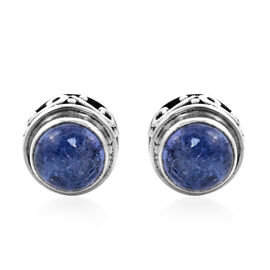 Royal Bali Collection 1.62 Ct Tanzanite Solitaire Stud Earrings in Sterling Silver