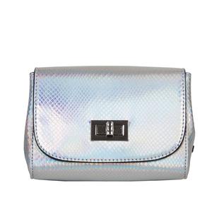 Bulaggi Collection - Fern Crossbody Bag with Twist Clasp Closure(Size 16x14x07 Cm) - Silver
