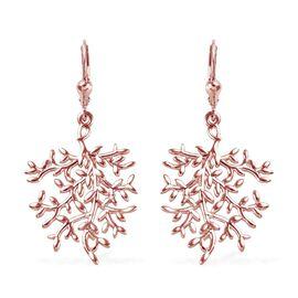 Designer Inspired- Rose Gold Overlay Sterling Silver Lever Back Earrings