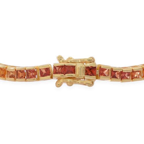 Rainbow Sapphire Sqr Tennis Bracelet Size 7 5 In 14k