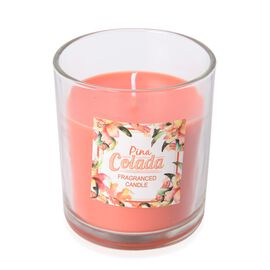 Fragranced Candle with Orange Wax (Pina Colada Fragrance)