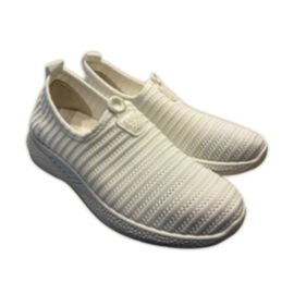 Low-Top Women's Synthetic Upper Shoes - White