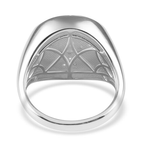 Natural Cambodian Zircon Enamelled Bee Ring in Sterling Silver, Silver wt 6.50 Gms