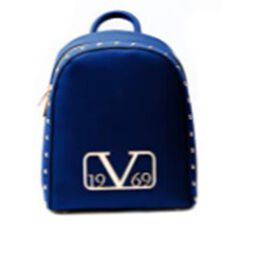 19V69 ITALIA by Alessandro Versace Backpack Bag with Zipper Closure (Size 25x30x12Cm) - Navy