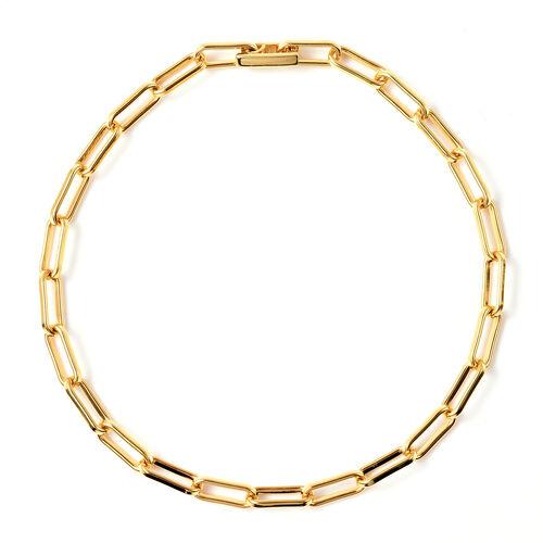 Designer Inspired- Link Bracelet (Size 7.5) in Yellow Gold Overlay Sterling Silver