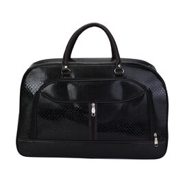 Snake Skin Pattern Travel Bag with Detachable Shoulder Strap and Zipper Closure (Size 55x20x34cm)- B