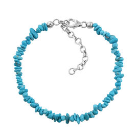 Artisan Crafted Arizona Sleeping Beauty Turquoise Bracelet (Size 7.5 with 2 Inch Extender) in Platin