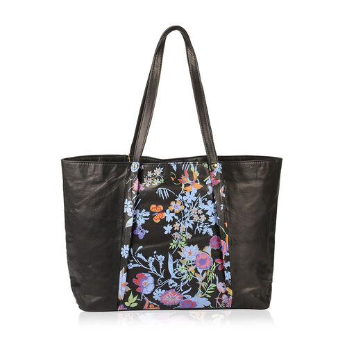 100% Genuine Leather RFID Blocker Black, Blue and Multi Colour Shoulder Bag (Size 46X29X10 Cm)