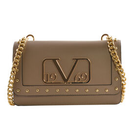 19V69 ITALIA by Alessandro Versace Crossbody Bag Detachable with Chain Strap (Size 27x6x17Cm) - Dark