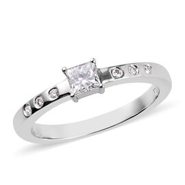 RHAPSODY 950 Platinum IGI CERTIFIED Diamond (Rnd and Sqr) (VS / E-F) Ring 0.330 Ct.