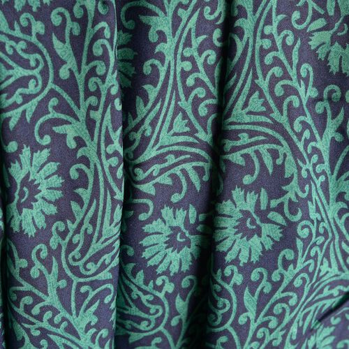 Green and Black Colour Ethnic Floral Pattern Palazzo Trouser (Free Size)