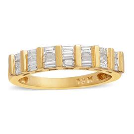 ILIANA 18K Yellow Gold IGI Certified Diamond (Bgt) (SI/G-H) Ring 0.500 Ct.