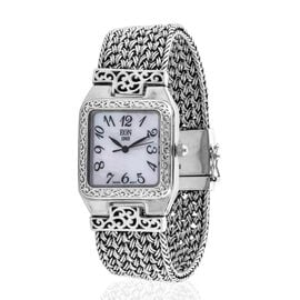 Royal Bali Collection Hand Made EON 1962 Swiss Movement Bracelet (Size 7.5) Watch in Sterling Silver