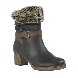 Lotus Charmaine Heeled Mid-Calf Ladies Boots - Black