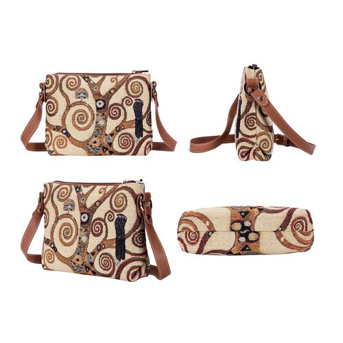 Signare Tapestry Gustav Klimt Tree of Life Cross Body Bag