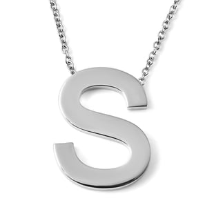 Initial S Necklace (Size - 20) in Stainless Steel
