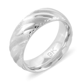 Premium Collection Royal Bali Collection 9K White Gold Band Ring Gold Wt 2.46 Gm