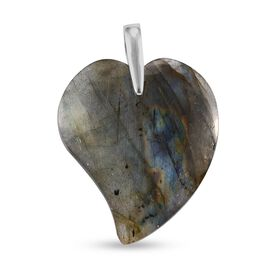 Labradorite Pendant in Platinum Overlay Sterling Silver 69.00 Ct
