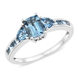 Designer Inspired-14K White Gold AAA Santa Maria Aquamarine (Oct) Ring 1.750 Ct.