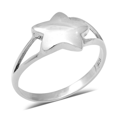 Floral Ring in Sterling Silver 3.18 Grams