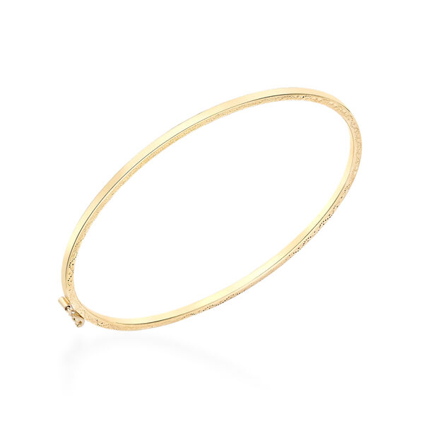 9K Yellow Gold Bangle (Size 7)