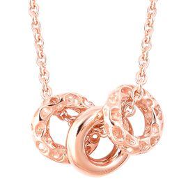 RACHEL GALLEY Allegro Collection -  Rose Gold Overlay Sterling Silver Pendant with Chain (Size 20),